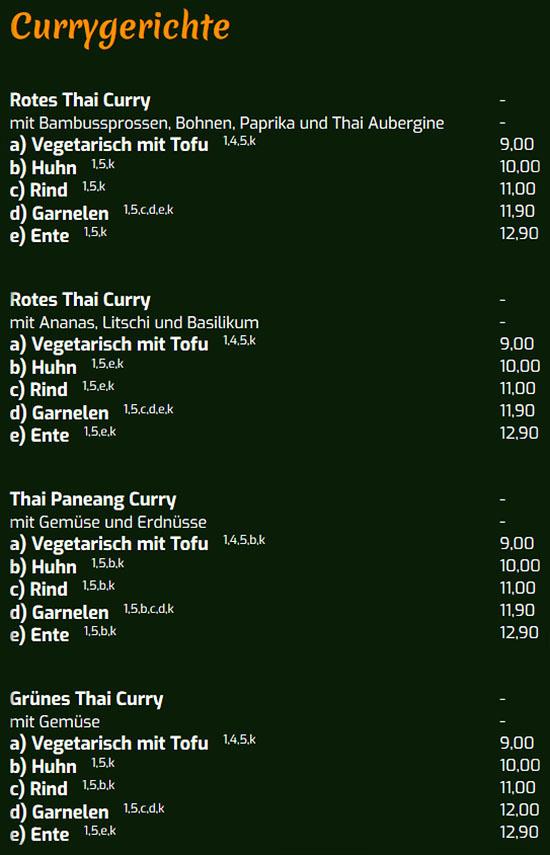 Rotes Thai Curry für  Heilbronn