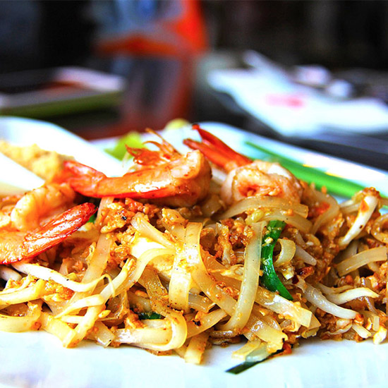 Thailändische Nudelgerichte