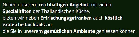 Thailändische Spezialitäten für 74072 Heilbronn